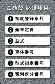 以下の6か所を確認